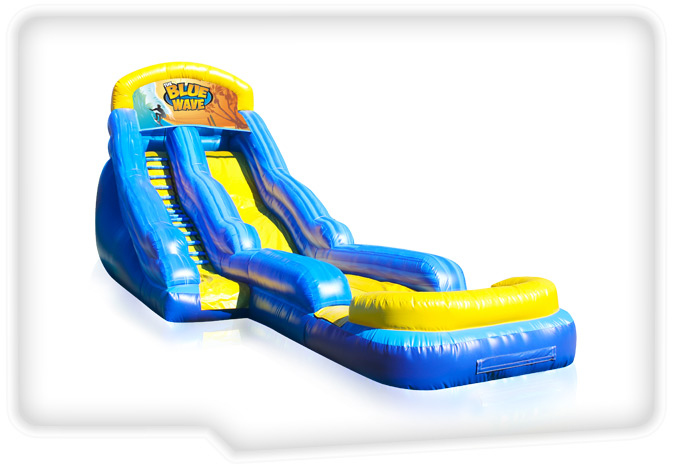 Blue Wave Inflatable Water Slide 18' - Interactive Game